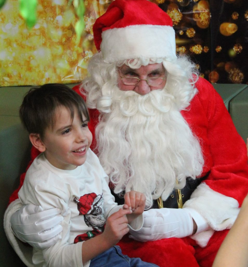 Santa with young child
